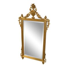 bbebbee2e6bf 1990s Vintage LaBarge Adams Style Gold Frame Wall Mirror