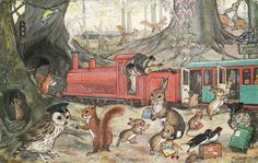 "Molly Brett ""Catching the Train"" Medici card, via Flickr"