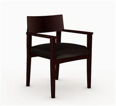 Mayline VSC11ABMAH Mercado Mahogany Guest Chair