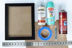 DIY Color Pop Veneered Frame