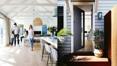Ever wondered what The Block contestants get up to after the show? Take a virtual tour through Deanne and Darren Jolly's real-life renovation and see the details behind their winning style. Style At Home, Home And Living, Home And Family, Living Rooms, California Bungalow, Australian Homes, Australian Plants, Coastal Gardens, Cottage Renovation
