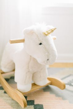Unicorn fur plush rocker: Photography: Kylie Martin - www.kyliemartinphotography.com Read More on SMP: http://www.stylemepretty.com/2016/09/02//