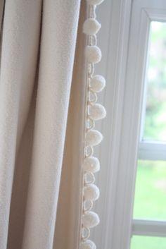 pom pom fringe curtains