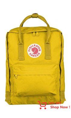 "Fjallraven Kanken Classic Backpack With the Swedish mantra in mind, ""Straight backs are happy backs,"" Fjällräven created the first Kånken in 1978 to spare the backs of school children, as back probl. Mochila Kanken, Fjallraven, Convertible, Unisex, Backpacker, Jansport, Leather Backpack, Kids Fashion, Dresses"