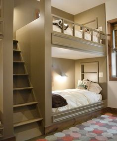 Would love this area as a sleepover/guest area. Maybe in a finished basement?