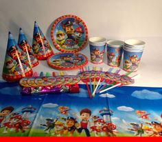 Paw Patrol Paper tableware. Paper plates cups and party hats for childrenu0027s birthday. Paw patrol set for party. Paw Patrol birthday & Paw Patrol Paper plates 10 pcs. Paper plate for childrenu0027s holiday ...