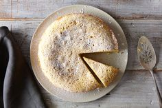 Lemon Lavender Polenta Cake, a recipe on Food52