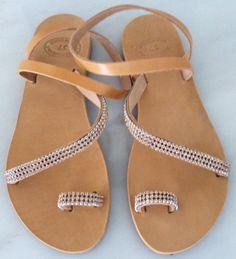 Items similar to Handmade Genuine Leather Ladies Sandals on Etsy Ladies Sandals, My Etsy Shop, Lady, Leather, Handmade, Shopping, Shoes, Fashion, Moda