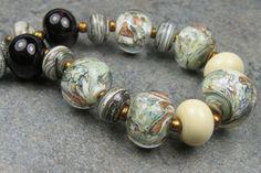 Into the Fire Lampwork Art Beads ~Bosques~ Artist handmade glass beads OOAK SRA