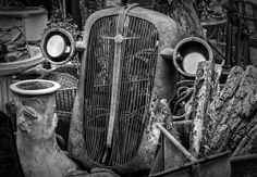 https://flic.kr/p/zAEgm9 | Old Chevy Grill | Photo taken of and old Chevy grill in a junk shop in Oklahoma City.