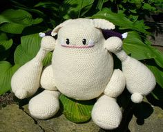Here's a pattern I wrote of the giant, fat moogle Cait Sith rides around on from Final Fantasy VII. Giant Moogle Crochet Pattern Patte...