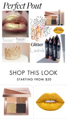 """glitter lipstick"" by lianafourmouzi ❤ liked on Polyvore featuring beauty, Bobbi Brown Cosmetics and Lime Crime"