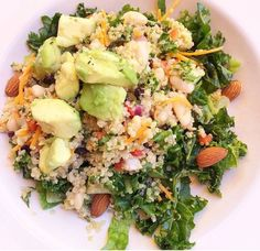 Kale, White Bean, Avocado Quinoa Salad recipe cancer healing foods