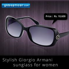 Get stylish Giorgio Armani sunglass for women by paying an EMI of Rs  1767. Available only at: http://www.gkboptical.com/giorgioarmani-ga695-sd28jj-round-sunglass-ga347bl57/