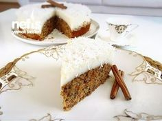Great Desserts, Cookie Desserts, Carrot And Walnut Cake, Tolle Desserts, Puff Pastry Recipes, Glaze Recipe, Pudding Cake, Turkish Recipes, Desert Recipes