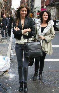 Miranda Kerr Street Style - Grey Denim