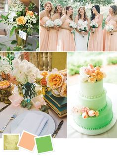 c8e5d3103ce8 9 Best Mint peach and gold party images