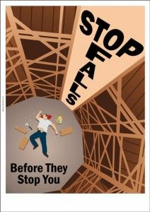 safety poster : Stop Falls