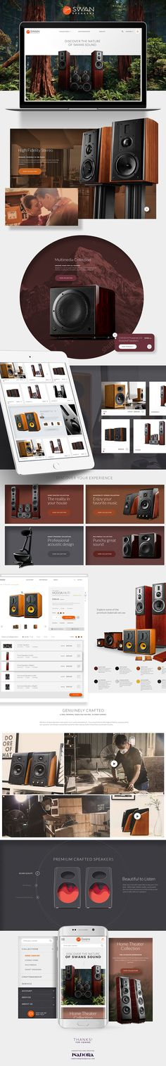 Swan Speakers' online web experience introduces the brand to the US market, builds brand recognition and product credibility, and drives conversion! Speakers Online, Web Design Examples, Online Store Builder, Ecommerce Web Design, Online Web, Internet Marketing, Swan, Make Money Online, Website