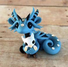 Dragon with Gryphon Plushie by Dragonsandbeasties
