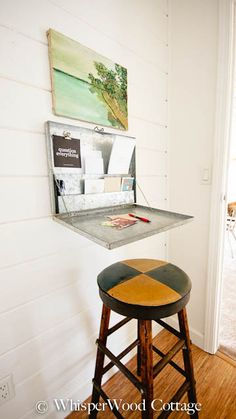 Galvanized Dairy Receipt Box Repurposed as Space-Saving Workspace Solution