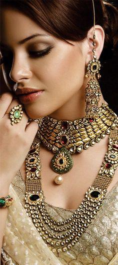 индийские украшения стиль кундан