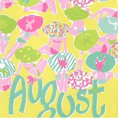Pink & Green August pattern - pinkpagodastudio: For the Love of Pink -- Lilly Pulitzer August Baby, Hello August, August 5th, August Birthday, Birthday Month, Lilly Pulitzer Prints, Lily Pulitzer, Love Lily, Album Photo