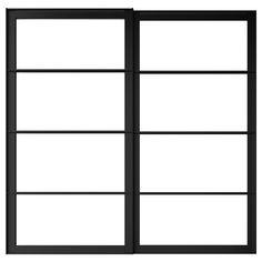 "PAX Pair of sliding door frames & rail - 59x79 1/8 "" - IKEA Ikea Pax, Pax System, Closet System, Rail Plafond, Sliding Closet Doors, Ikea Closet Doors, Pax Closet, Pantry Doors, Sliding Wardrobe"