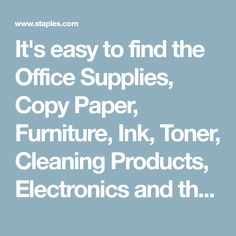 It S Easy To Find The Office Supplies Copy Paper Furniture Ink Toner