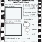 Add this printable to you Fall or Pumpkin unit for your students to record on as you