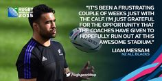 FIGHTING FIT: @liammessam has been named in the #NZL 23 - hoping for a first match at #RWC2015 at St James' Park