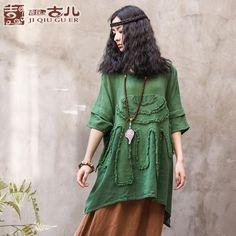Jiqiu copil Teana originale de mari dimensiuni femei pierde cămașă de culoare solida face vechi de vară doamnelor bumbac respiră t-shirt