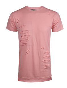 S11712 - Ripped patch accent Tee shirt
