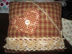Primitive Valentine Mini Pillow/Shelf Sitter/Ornie