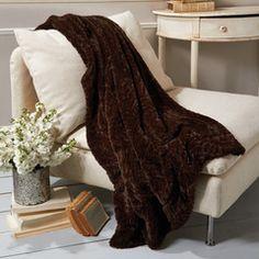 Faux Fur Throw Blanket | The Shopping Bag www.ShopTheShoppingBag.com