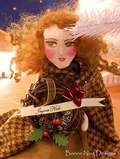 Paper Mache art dolls @Bonne Nuit Designs