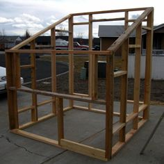 DIY Greenhouse for less than $100--if you have old windows laying around. Use this same concept for a play house for Emma.
