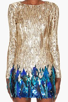 sequins with a pop of color :)