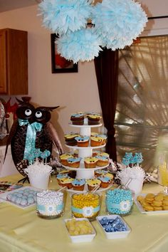 Owls Baby Shower Party Ideas | Photo 1 of 17 | Catch My Party