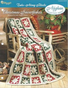 Christmas Snowflakes Afghan Collector's by KnitKnacksCreations