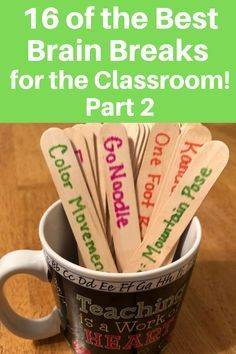 16 of the Best Brain Breaks Continually Learning Classroom Routines, Classroom Games, Future Classroom, Classroom Behavior, Classroom Ideas, Primary Classroom, Motivational Quotes For Teachers, Teacher Quotes, Motivational Activities For Students
