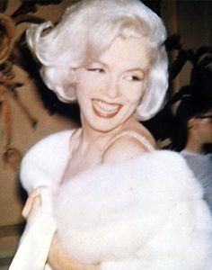 Marilyn Monroe at President Kennedy's Birthday Gala, 1962.