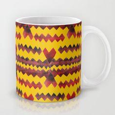 Ethnic diamond Mug by Amanda Araujo - $15.00