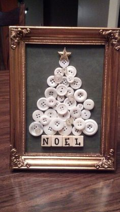 Have some leftover buttons and need some cool new craft ideas, too? You may want to go restock on buttons after you see these creative and easy DIY projects made with buttons. button crafts Best Button Craft Ideas that are Both Creative & Fun Rustic Christmas, Christmas Art, Christmas Projects, Winter Christmas, Christmas Ornaments, Christmas Ideas, Christmas Button Crafts, Wooden Christmas Crafts, Button Ornaments