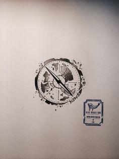 Compass Tattoo Design #3  From Blue Whale Ink Design by _park_tae_  Work In Korea, Seoul, Hongdae Kakao: taemin0509 Insta: _park_tae_ Email: hopetaemin@naver.com Phone: 010.9922.2511