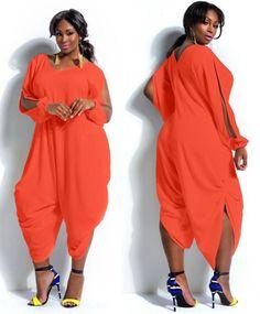 375a1616928e Plus Size Ladies Sexy Women Summer Loose Romper Baggy Harem Jumpsuit  Playsuit