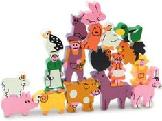 http://babyandtoddlertoyclub.blogspot.co.uk/p/blog-page.html , Vilac 18 Piece Wood Stacking Puzzle, Farm Animals:  balls