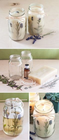 15 DIY Crafts To Do With Dried & Pressed Flowers - Personello - DIY Ideen: Geschenke, Deko, Basteln & Selbermachen - Homemade Candles, Homemade Gifts, Diy Gifts, Diy Vegan Candles, Diy Unique Candles, Diy Candle Ideas, Diy Candles Design, Unique Gifts, Diy Candles Scented