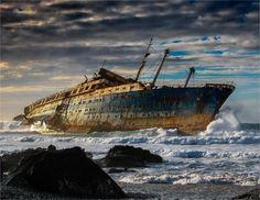 El Barco Fantasma de Fuerteventura. Un temporal brutal azotó el día 15 de enero de 1994 frente a la costa canaria