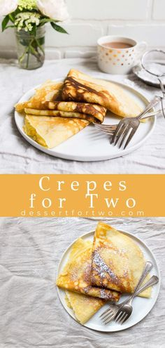 Amazing Recipes, Easy Recipes, Snack Recipes, Easy Meals, Dessert Recipes, Cooking Recipes, Snacks, Crepe Recipe For Two, Small Batch Baking